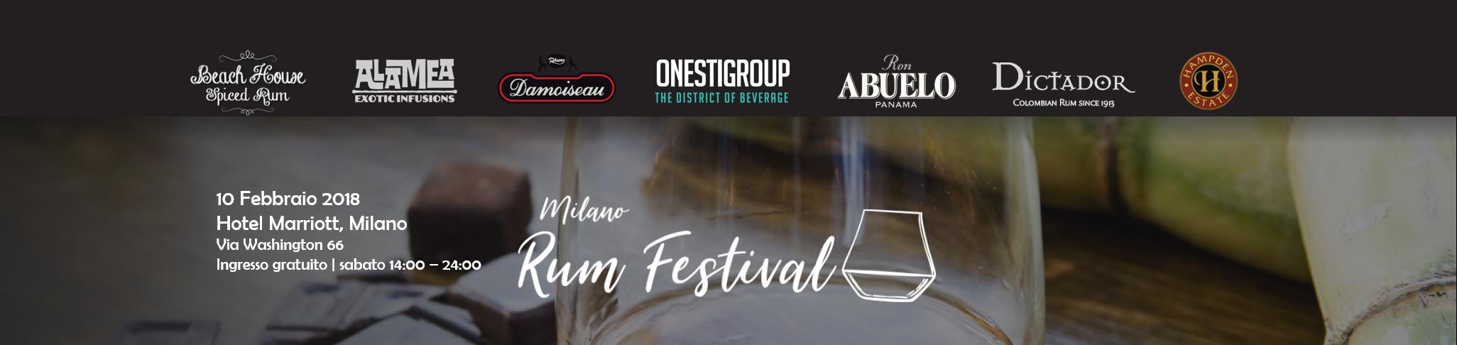 Arriva Milano Rum Festival – 10 febbraio 2018