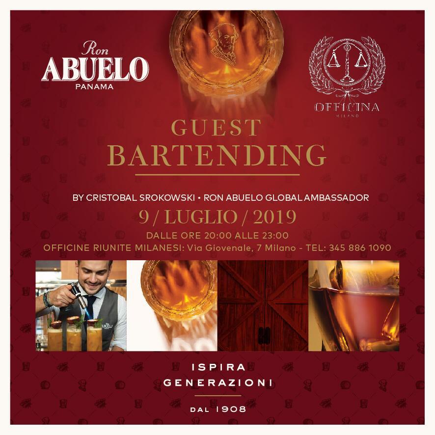 guest bartending ron abuelo