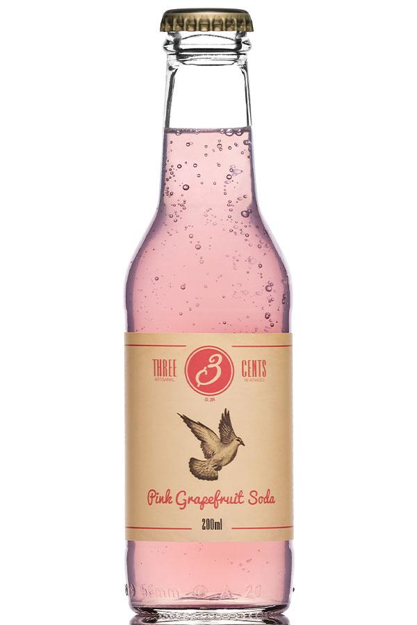 PINK GRAPEFRUIT SODA – THREE CENTS